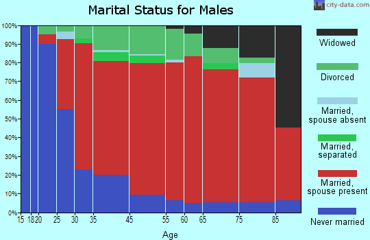 Chesterfield marital status for males