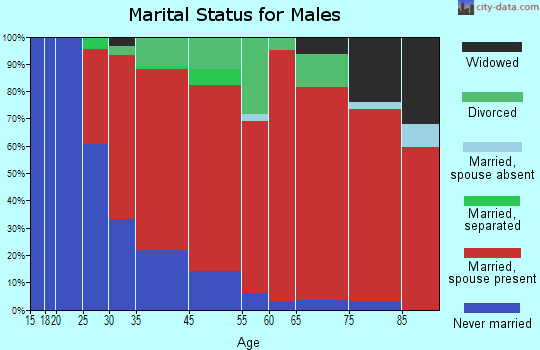 Sunderland marital status for males