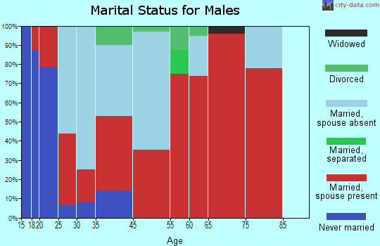 West End marital status for males