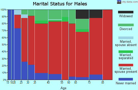 Clifton Park marital status for males