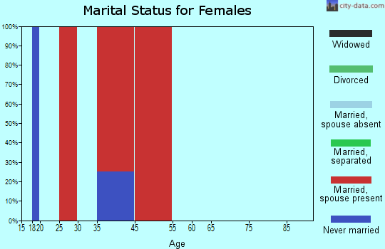West Texas marital status for females