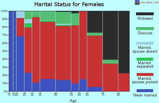 Willington marital status for females