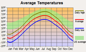 Elbow Lake, Minnesota average temperatures