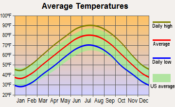 Newbern, Tennessee average temperatures