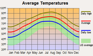Morgan Farm Area, Texas average temperatures