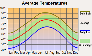 Morton, Texas average temperatures