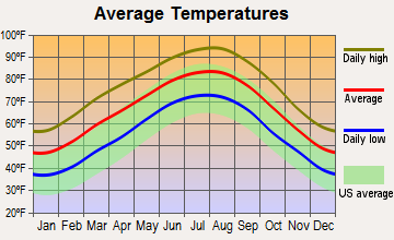 New Chapel Hill, Texas average temperatures