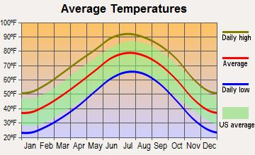 North Randall, Texas average temperatures