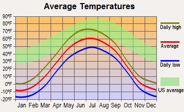 Nenana, Alaska average temperatures