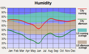 Second Mesa, Arizona humidity