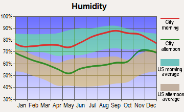 Bridgewater, Maine humidity
