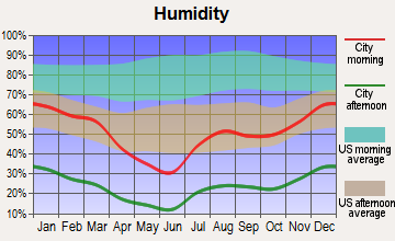 Wenden, Arizona humidity