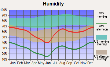 Whiteriver, Arizona humidity