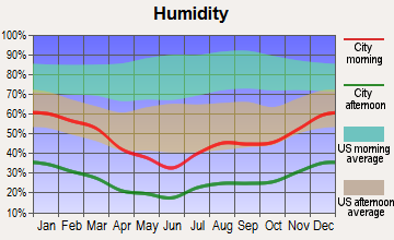 Lake Havasu City, Arizona humidity