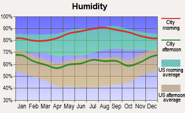Eva, Alabama humidity