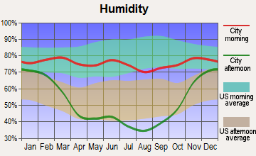 West Glendive, Montana humidity
