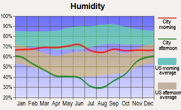 Lewistown Heights, Montana humidity