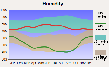 Merriman, Nebraska humidity