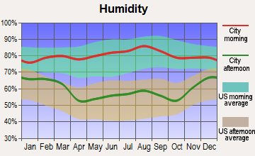 Battle Creek, Nebraska humidity
