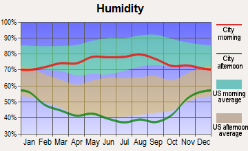 Kimball, Nebraska humidity