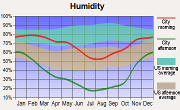 Spring Creek, Nevada humidity