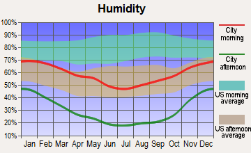 Goldfield, Nevada humidity