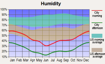 Mount Charleston, Nevada humidity