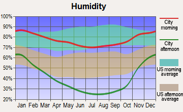 Indian Hills, Nevada humidity