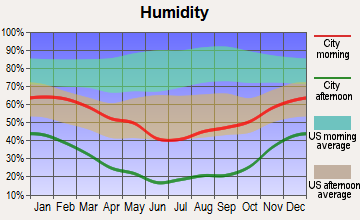 Caliente, Nevada humidity