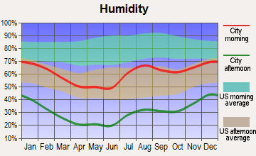 Pueblo of Sandia Village, New Mexico humidity