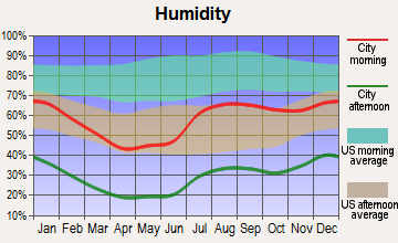Mescalero, New Mexico humidity