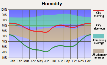 Kirtland, New Mexico humidity