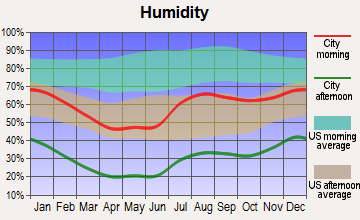 Capitan, New Mexico humidity