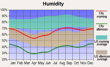 Roswell, New Mexico humidity