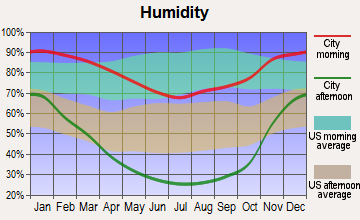 Denair, California humidity