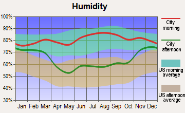 Hamilton, North Dakota humidity
