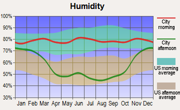 Tioga, North Dakota humidity