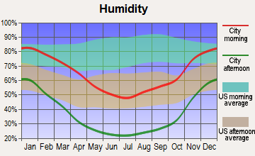 Inyokern, California humidity