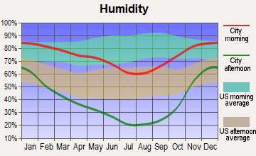 Lakeview, Oregon humidity