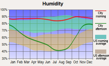 Carlton, Oregon humidity