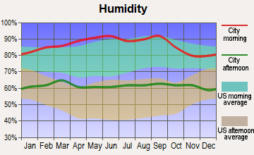 Los Alamos, California humidity