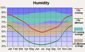 Oildale, California humidity
