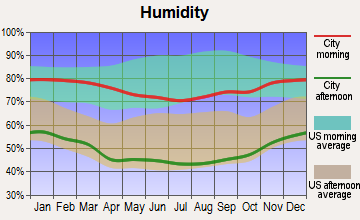 Palmdale, California humidity