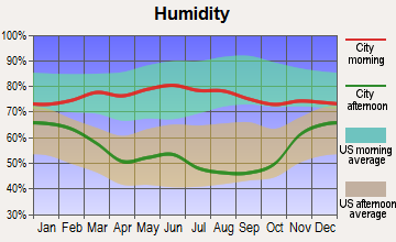 Rosebud, South Dakota humidity