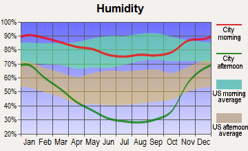 San Bruno, California humidity