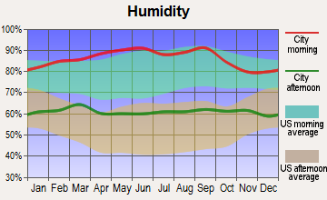San Luis Obispo, California humidity