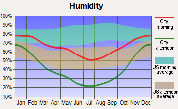 Mount Pleasant, Utah humidity