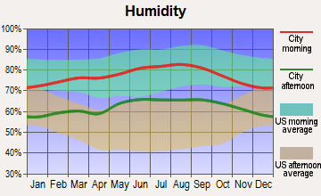 Vista, California humidity