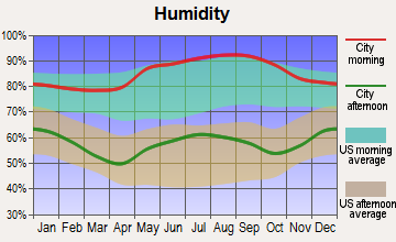 Ewing, Virginia humidity