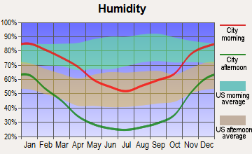Wofford Heights, California humidity